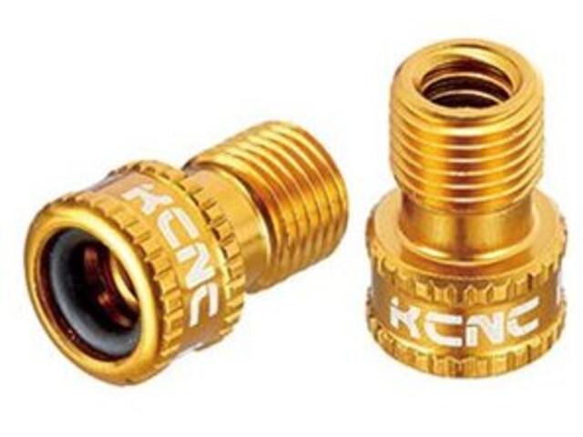 KCNC Valve Adapter Presta to Schrader gold